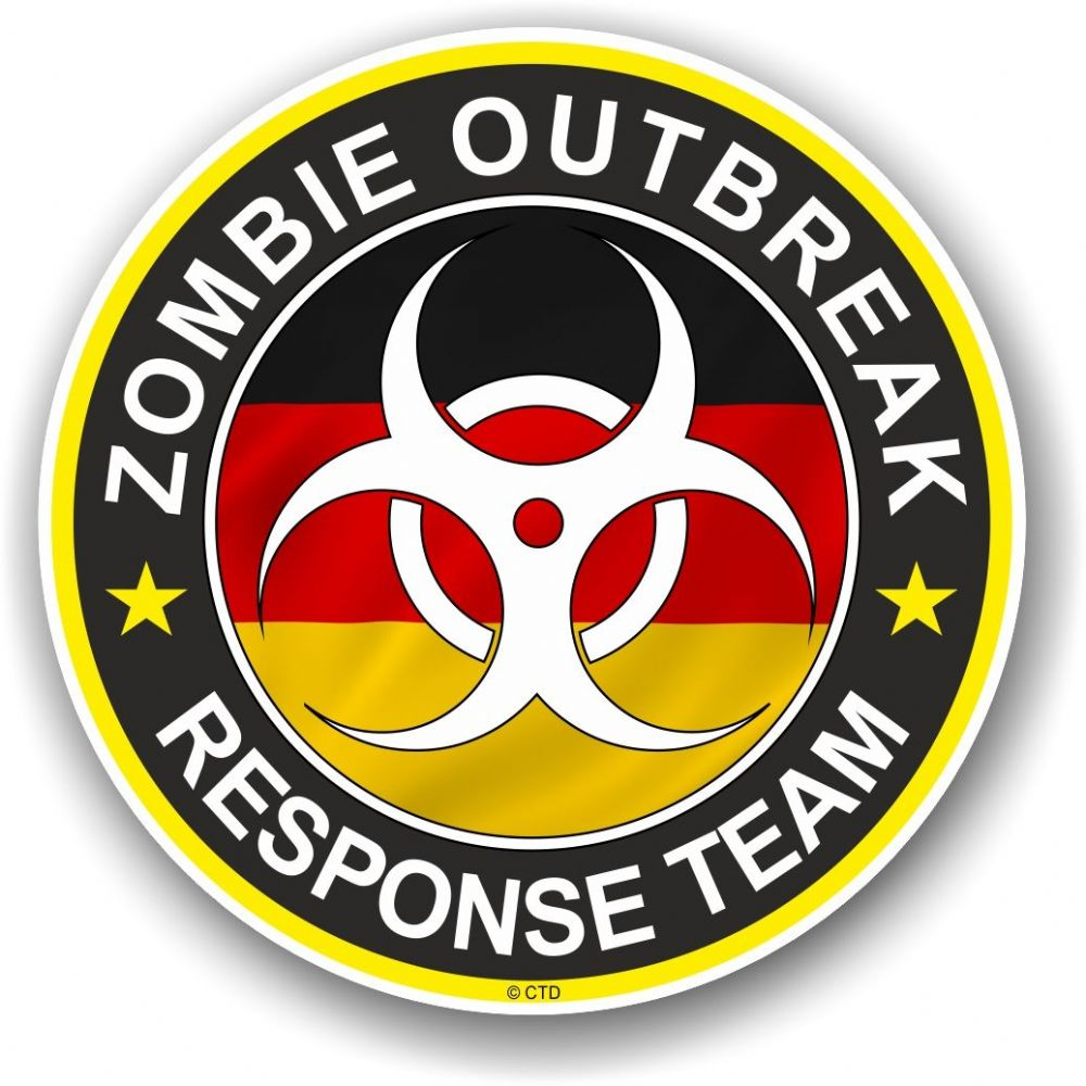 Zombie Outbreak Response Team Design With German Flag